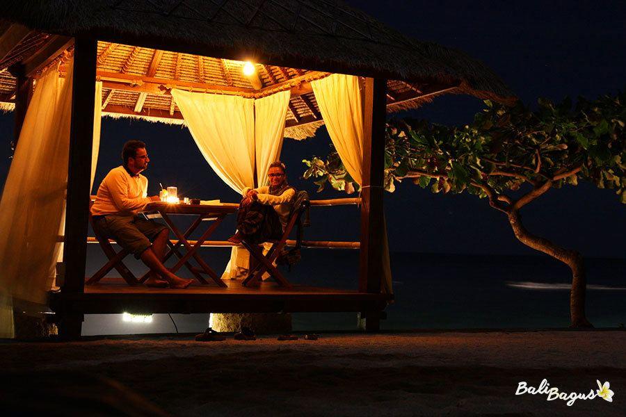 Jeeva Klui Senggigi cabana per cene romantiche