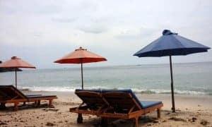 Uluwatu Beach one of famous beach in Bali