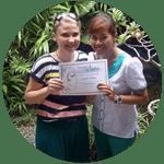 Jennifer with Trainer - Balinese Massage Student