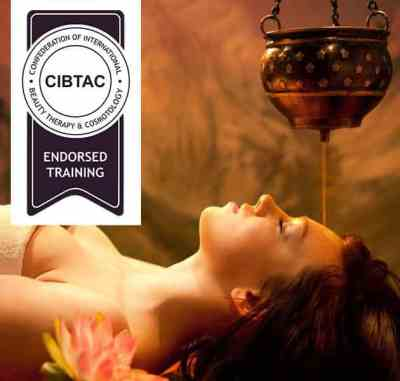 CIBTAC Ayurveda Program endorsed by CIBTAC includes Abhyanga Body Massage, Shirodara, Ayurvedic Scrubs and Wraps, and Pizchiki & Kaativasti Treatments