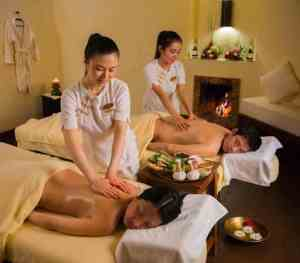 Two spa therapist on duty