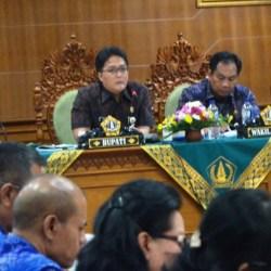 Bupati Giri Prasta Pimpin Langsung Pembahasan SOTK Bersama SKPD di Badung