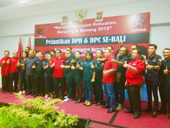 Pengurus Repdem Dilantik, Targetkan 80 Persen Kemenangan Jokowi-Ma'ruf di Bali