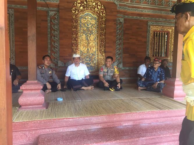 Kapolres Badung Silaturahmi dengan Panglingsir Jero Kelodan