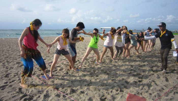 Bali Beach Team Building Amazing Race Phase Stepping Mat Game