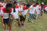 stepping mat game, warisan, warisan group, bali cycling, treasure hunt rafting, rafting, cycling, team building, garden team building, fun games, games, Rice paddy cycling, wooden puzzle