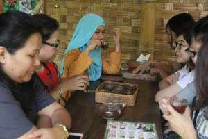a cup of coffee at Bali Coffee Plantation