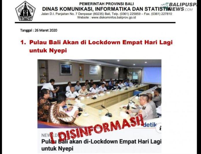 Bali Lockdown 4 Hari