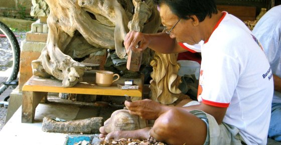 Bali Wood Sculptor – Mas Village