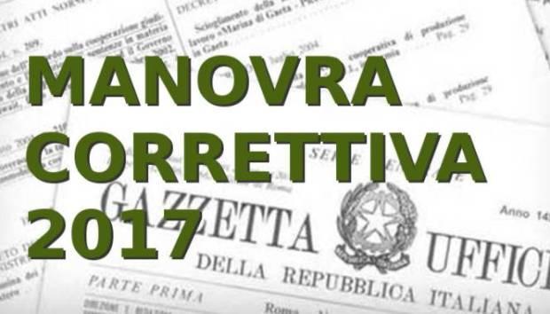 Manovra correttiva 2017