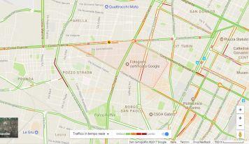 google maps grafico traffico