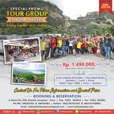 Paket tour group 3H 2M murah BTH 298