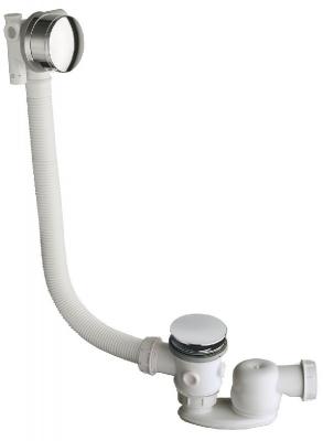salle de bain vidage baignoire vidage up down h 90 cm remplissage trop plein chrome