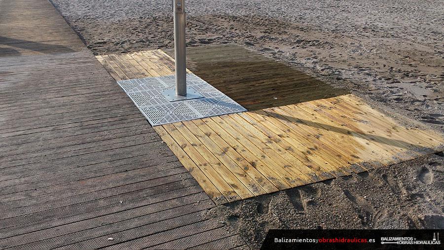 Drenajes para lava-pies desarrollados y patentados por Balizamientos y Obras Hidráulicas de Mazarrón SL