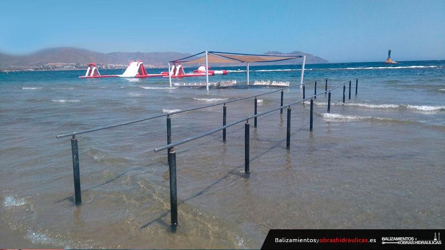 Instalación de Zona acceso Mayores en playas de Almería, Roquetas y Mazarrón 2017 (4)