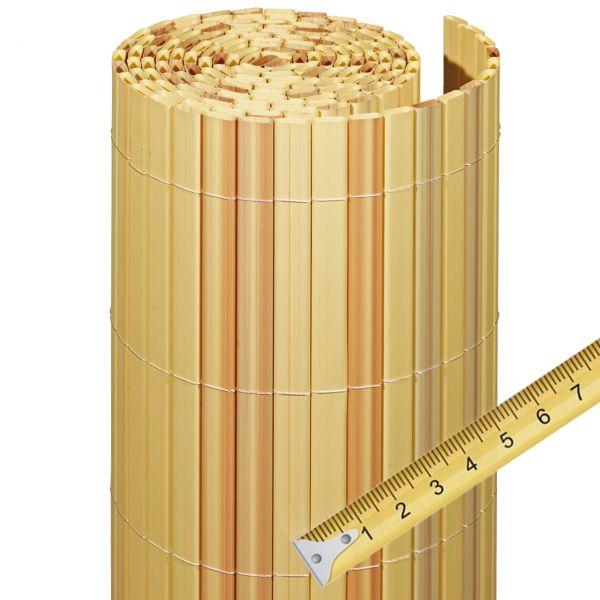 sichtschutzmatte kunststoff meterware rugen bambus