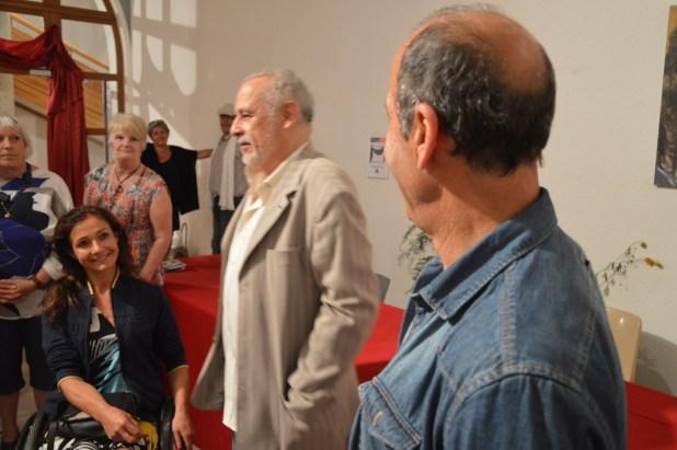 Dorine en compagnie de Francis Perrin et de Mr Argenti maire d'Hauteville