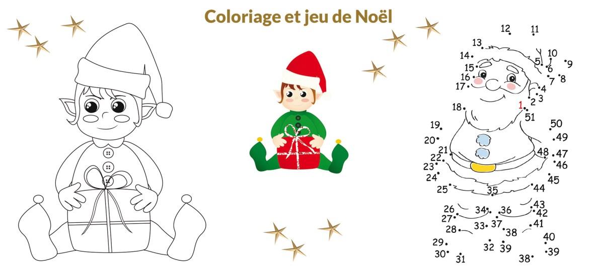Coloriage et jeu de Noël ballad et vous