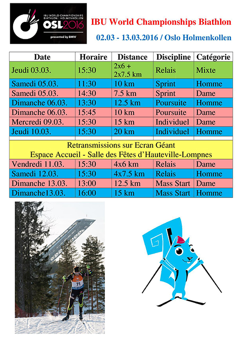 IBU World Championships Biathlon ballad et vous