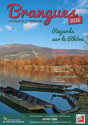 Brangues affiche regards sur le Rhône ballad et vous
