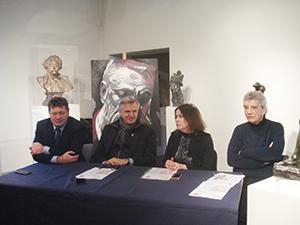 Musée Faure Renaud Beretti, Dominique Dord, Isabelle Moreaux et André Liatard, conservateur du Musée Faure ballad et vous