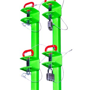 2 Place Classic Series Trimmer Rack - Open Trailers