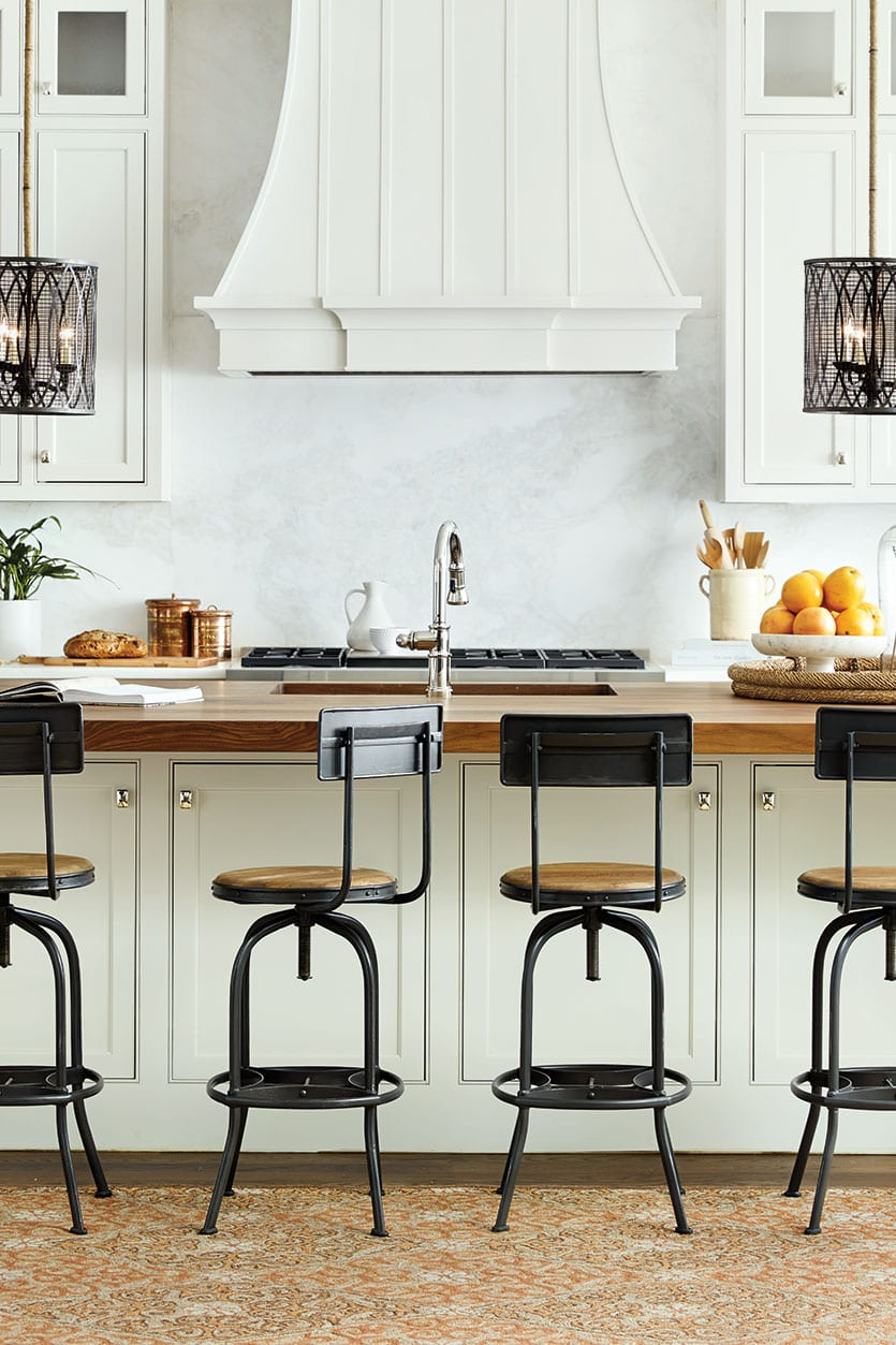 How to Choose the Right Stool Heights for Your Kitchen   How To Decorate Allen stools in your kitchen