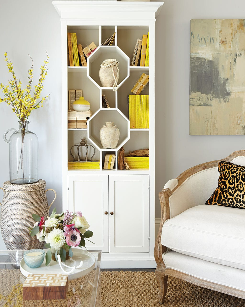 how to style console and coffee tables