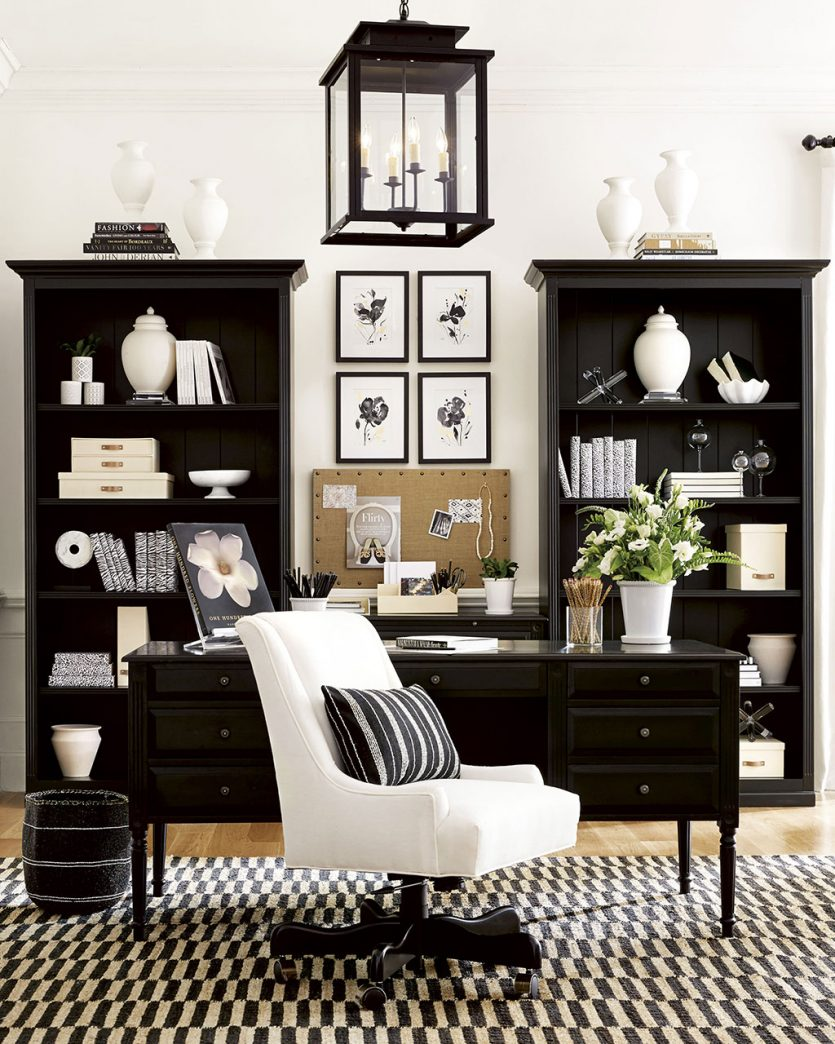 Black and white home office ideas from Ballard Designs