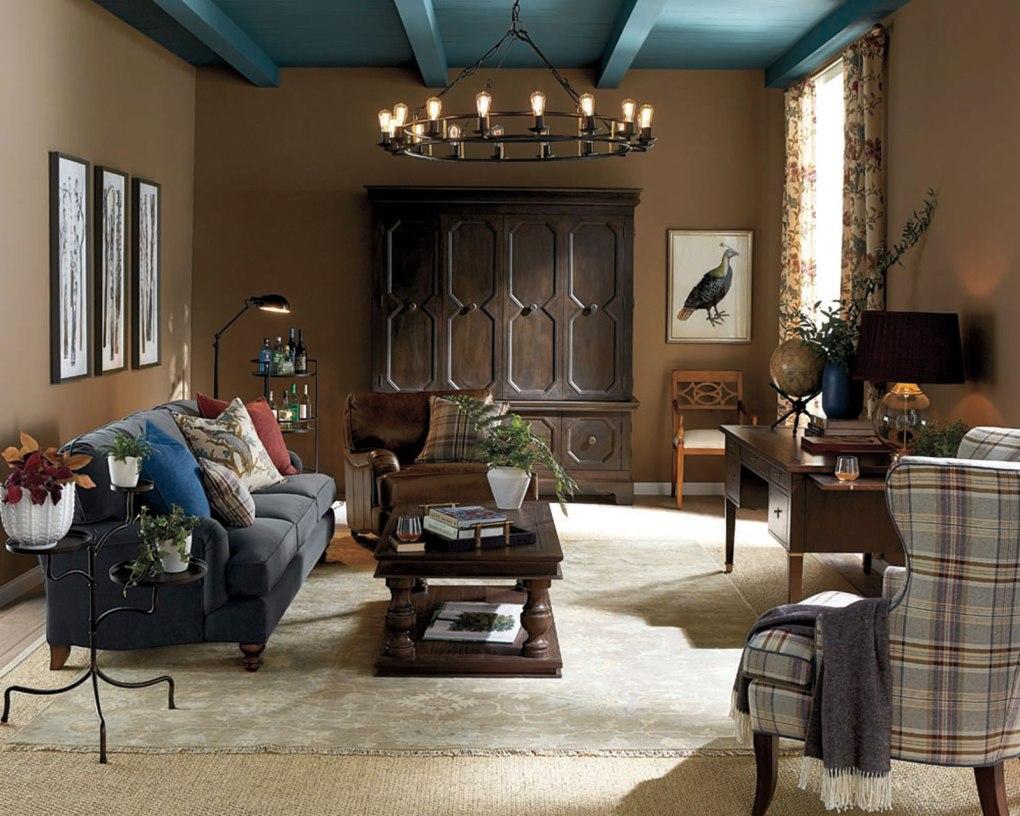 living room lighting in a dark living room
