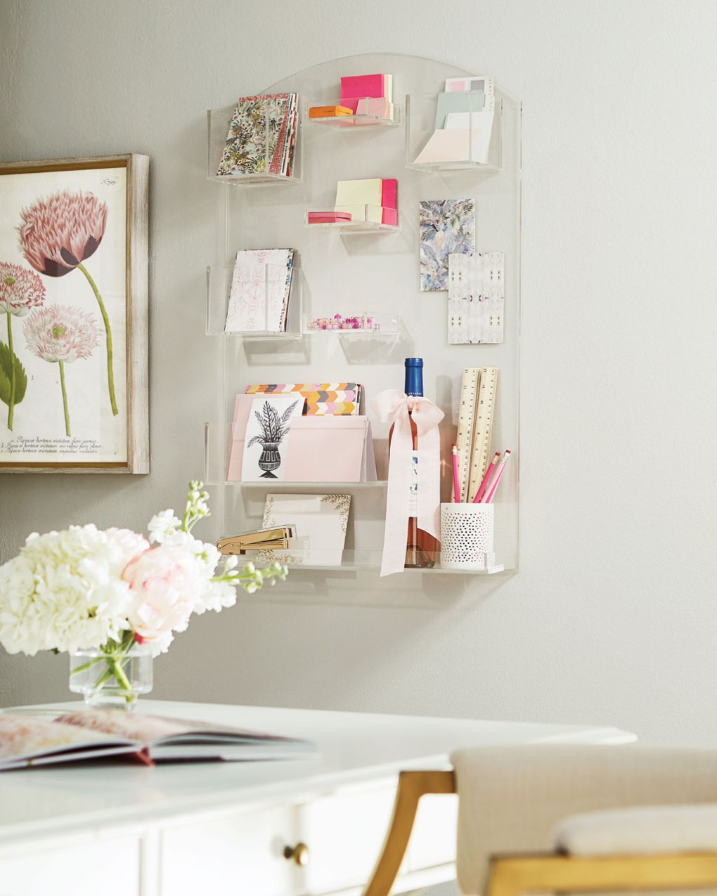 Utilize wall space in your work from home setup