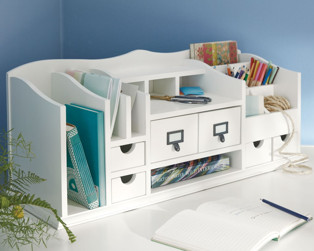 Organize your work from home setup with a desk organizer