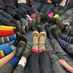 Wearing odd socks for anti-bullying week