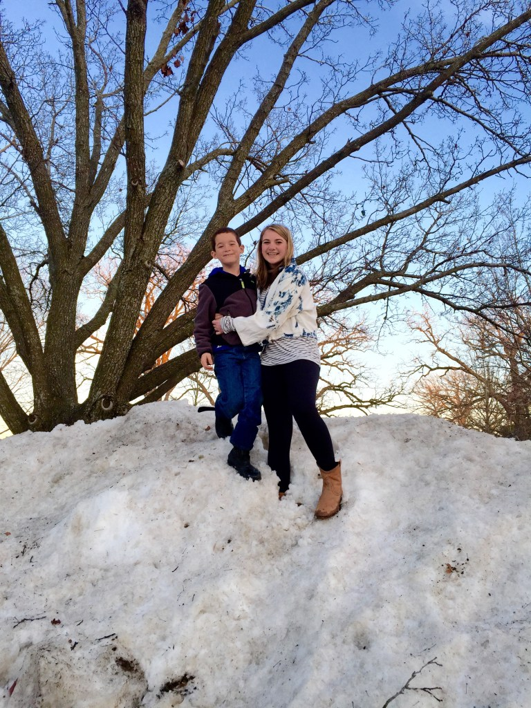 """Here is another giant """"snirt"""" hill in Winnetka!  My kids loved these more than anything else."""