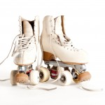 Anyone remember these? Good old-fashioned roller skates with a giant rubber stopper in the front - the brake!