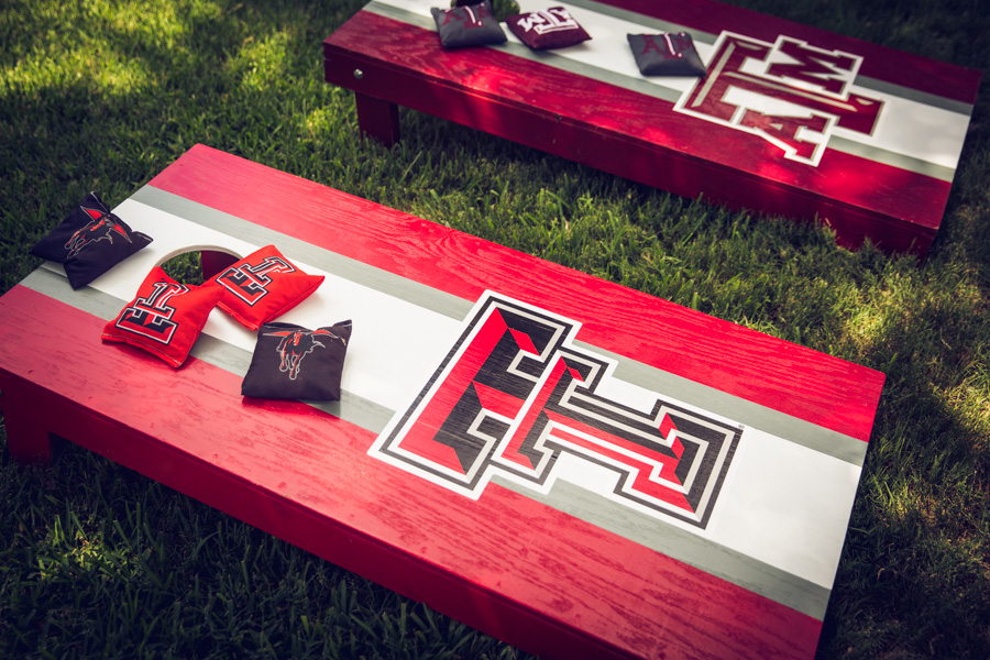 As you can see from our Corn Hole boards, we are a house divided!