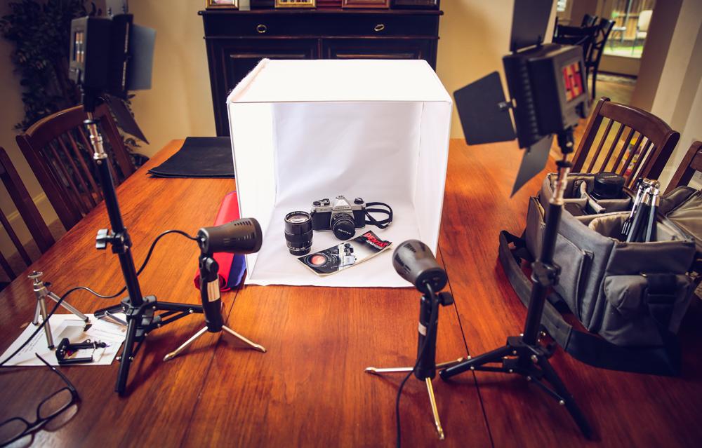 """LimoStudio 24"""" Folding Photo Box Tent LED Light Table Top Photography Studio Kit"""
