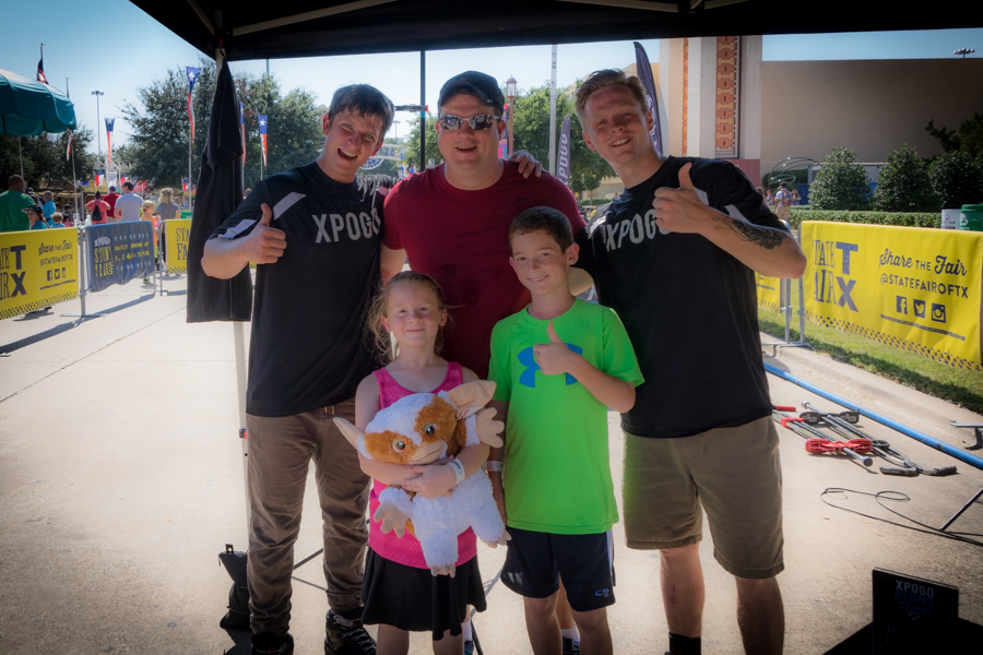 Zach & Morgan (and Mark) were so excited to get to meet these guys who could defy gravity!