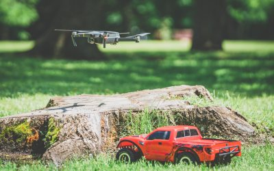 An Awesome Red Traxxas Remote Control Car, a GoPro, and a DJI Mavic Drone.  The Perfect Medicine for Boredom During Quarantine…