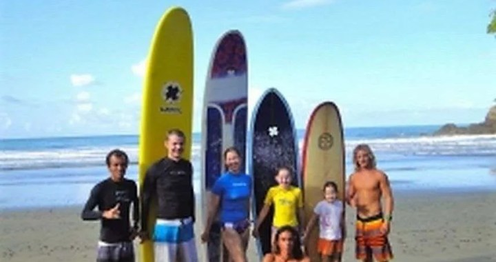 Family Surfing, Costa Ballena