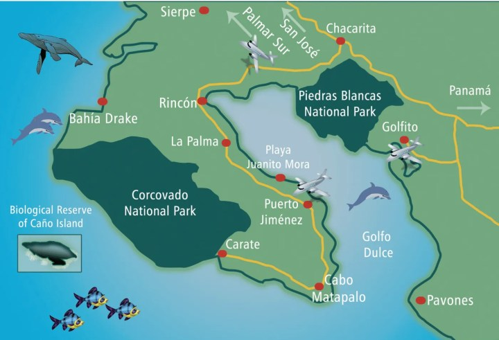 How to get to Puerto Jimenez, Osa Peninsula in Costa Rica