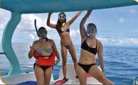 Snorkeling in biological reserve of Caño Island, a great place for diving