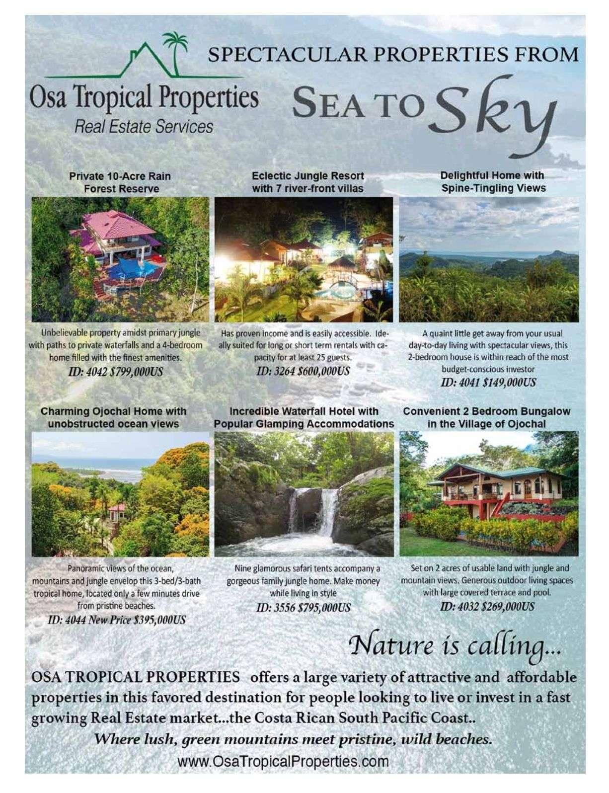 Osa Tropical Properties, Real Estate Costa Ballena Services