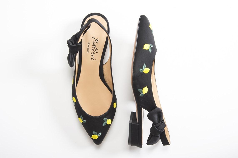 Exclusive Capri Collection – Ballerina a punta JK Raso Nero - Details