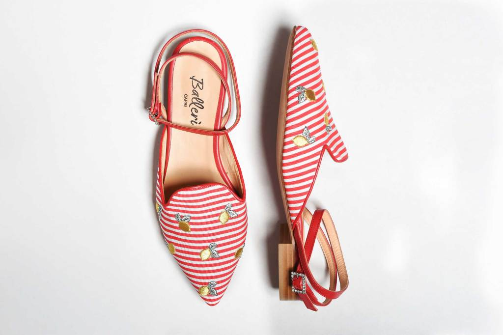 Exclusive Capri Collection - Red Stripes Audry Slipper - 3
