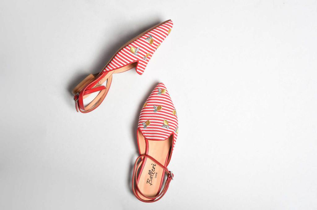 Exclusive Capri Collection - Slipper Audry Righe Rosse - 3