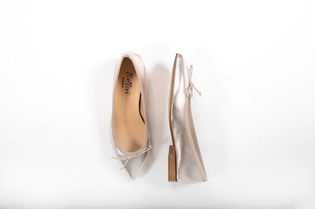 Ballerina a punta Eleonora Pelle Platino - 3