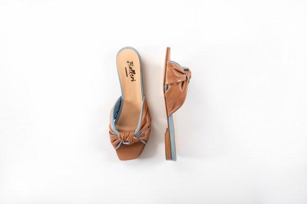 Sandalo a punta quadrata Dea Pelle Cuoio/Polvere - 3