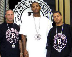 Johnny Hooks, The Game and Nu Jerzey Devil in front of the Black Wall Street East offices (Photo: BWS)