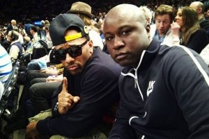 Mobb Deep - Prodigy and Havoc sitting courtside at Knicks game.